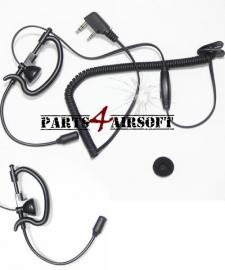 One-ear Headset dubbel pins - PTT (P4A658)