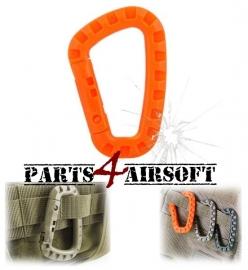 Plastic Tac Link Carabiner D-Ring - Oranje (P4A437)