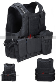 Tactical Vest - Zwart (P4A922)