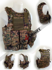 Tactical Vest - Woodland Marpat (P4A833)