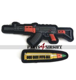 AK47 & Bullet PVC Patches - 8,5x3cm (P4A1042)