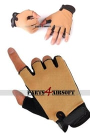Handschoen zonder vingers - Khaki (P4A1006)