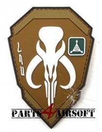 Starwars Bounty Hunter Boba Fett Mandalorian Bantha PVC Patch - 10x7cm (P4A508)