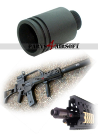 Silencer adapter voor G36 / G36C [14mm CCW -> 14mm CCW] (P4A877)