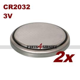 Batterij CR2032 3V 235mAh - 2 stuks (P4A670)