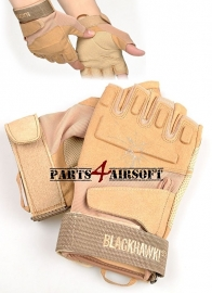 Tactical Gloves zonder vingers  - Tan (P4A574)
