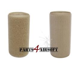Klittenband 10cmx10cm - Hooks (grof) of Loops (zacht) - Khaki (P4A839)