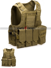 Tactical Vest - Khaki (P4A920)