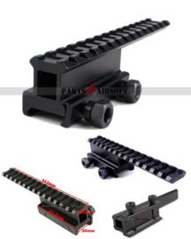 Extended RIS Rail Riser - See Through - 14 slots / 143mm (P4A851)