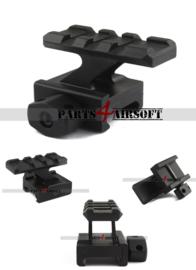 RIS Rail Riser - See Through - 3 slots / 45mm (P4A852)