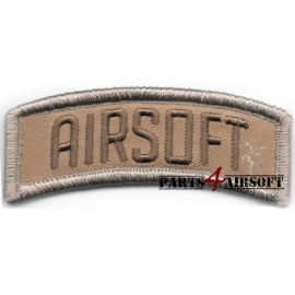 Airsoft Patch - 7,5x2,5cm - Tan (P4A623)