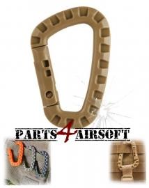 Plastic Tac Link Carabiner D-Ring - Khaki (P4A435)