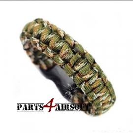 Paracord Polsband - Woodland (P4A225)