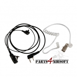 Earpiece & Mic Walkie Talkie dubbel pins - PTT (P4A213)