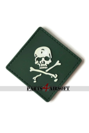 Pirate Skull PVC Patch - Green - 5,5x5,5cm (P4A1039)