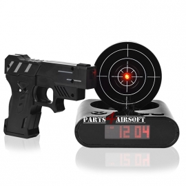 Alarmklok - Shoot-out alarm - Zwart (P4A635)