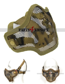 Mesh Facemask - Khaki Skull (P4A886)