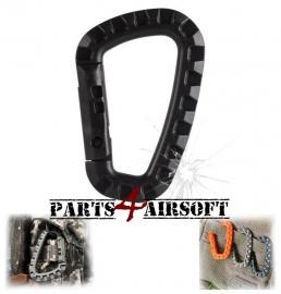 Plastic Tac Link Carabiner D-Ring - Zwart (P4A434)
