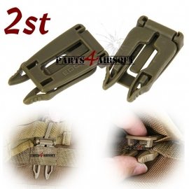 Molle Webbing Buckle - EDC Gear - Olive Drab - 2st (P4A600)