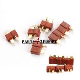 Deans / T-plug Connectors 10st (5x vrouwtje & 5x mannetje) (P4A236)