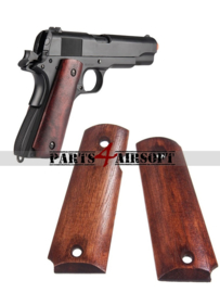 Wood handgrips voor 1911 (P4A1046)