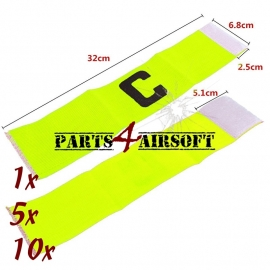 Airsoft Team Bandjes - 1-5-10st - Fluo Groen (P4A535)