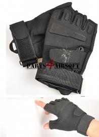 Tactical Gloves zonder vingers  - Zwart (P4A573)