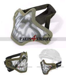 Mesh Facemask - Olive Drab Skull (P4A1002)