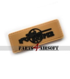 Sniper PVC Patch - Tan - 7,8x3cm (P4A1041)