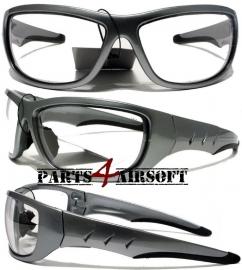 Veiligheidsbril - Helder - Gun metal - Z87.1 - Z94.3-07 (P4A572)