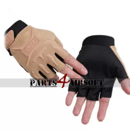 Tactical Gloves zonder vingers #2 - Khaki (Tan) (P4A780)
