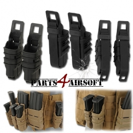 Fast Mag Double Magazin Pistol Pouch - Black - 2 stuks (P4A608)