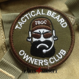 Tactical Beard Owners Club Woven Patch - 7x7cm (P4A665)