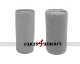 Klittenband 10cmx10cm - Hooks (grof) of Loops (zacht) - Grijs (P4A903)