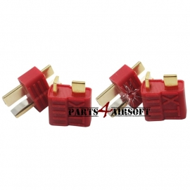 Deans / T-plug Connectors Extra Grip 4st (2x vrouwtje & 2x mannetje) (P4A416)