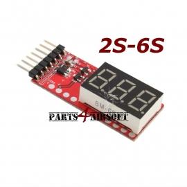 Lipo Voltage meter 2S-6S (P4A371)