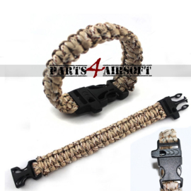 Paracord Polsband - Desert Camouflage (P4A728)