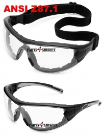 Tactical Glasses / Bril - Clear / Anti-Fog - Z87.1 - NABV approved (P4A513)