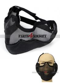 Mesh Half Facemask - Zwart (P4A887)