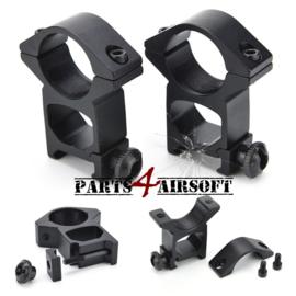Scope Mount set - High - 25,4mm - 20mm RIS (P4A631)