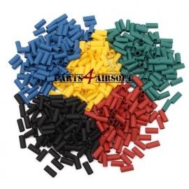 Krimpkous set 5 kleuren - 500stuks - 10mmx3mm (P4A340)