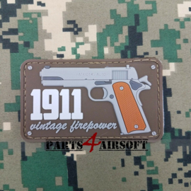 1911 Vintage Firepower PVC Patch - 8x4,5cm (P4A1043)