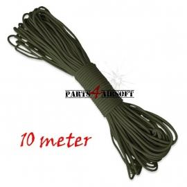 Paracord / Parachute touw 10meter - Olive Drab (P4A349)