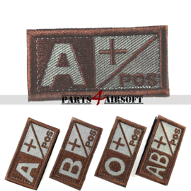 Blood Type patch - A+ pos - Coyote Brown - 5x2,5cm (P4A973)