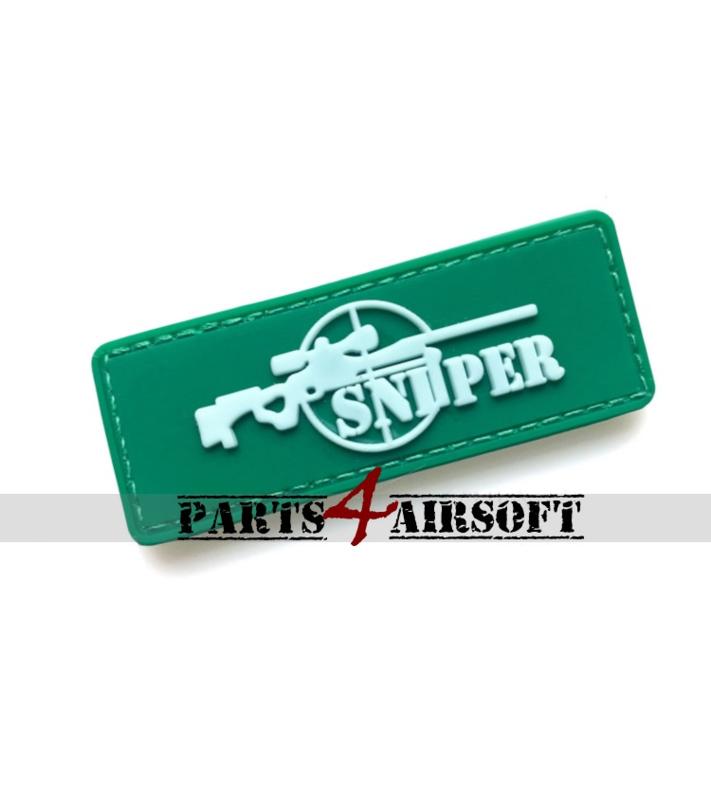 Sniper PVC Patch - Green - 7,8x3cm (P4A1040)