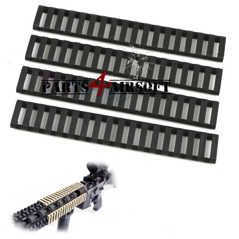 RIS Rail Ladder Protection - 4st - Zwart (P4A632)