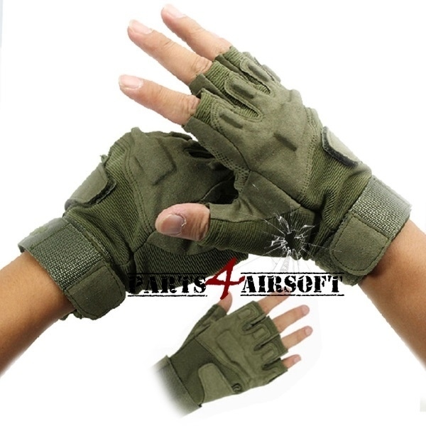 Tactical Gloves zonder vingers  - Olive Drab (P4A523)