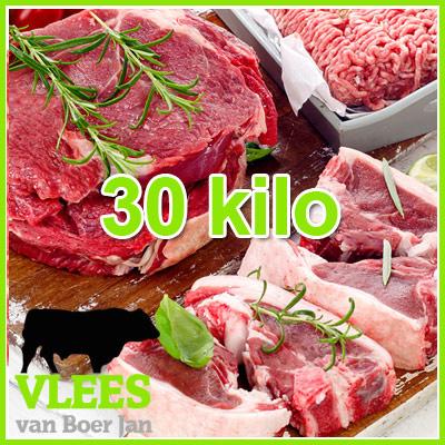 Rundvlees voordeelpakket groot 30kg - diepvriesklaar