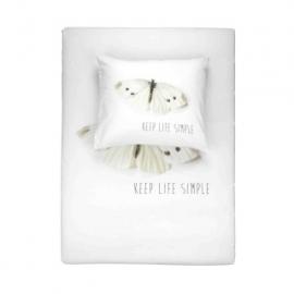Walra Dekbedovertrekset Keep Life Simple Wit