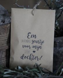 Geurzakje Lavendel met tekst Dochter
